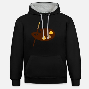 Paint Brush Paint brush - Unisex Contrast Hoodie