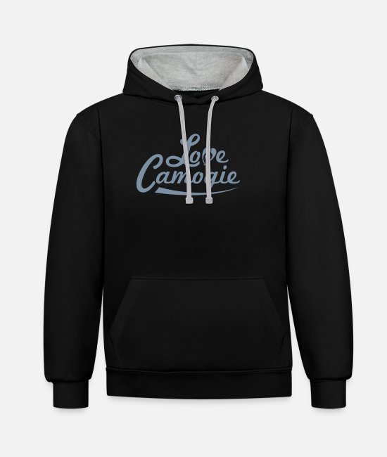 Heart Hoodies & Sweatshirts - Love Camogie - Unisex Contrast Hoodie black/heather grey