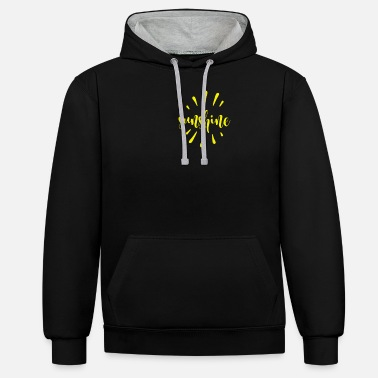 Sunshine in my pocket - Unisex Contrast Hoodie