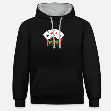 Turn On All time poker champion - Unisex Contrast Hoodie