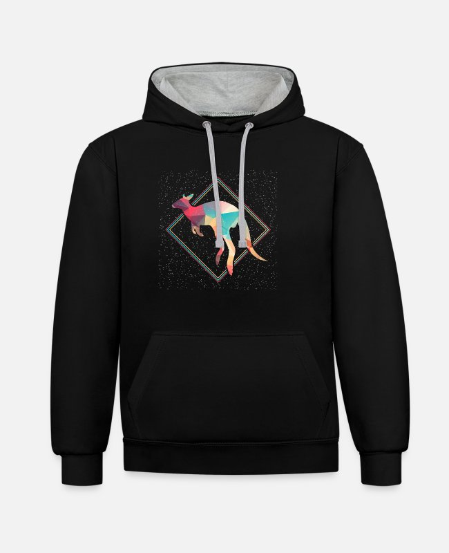 Kangaroo Hoodies & Sweatshirts - kangaroo - Unisex Contrast Hoodie black/heather grey