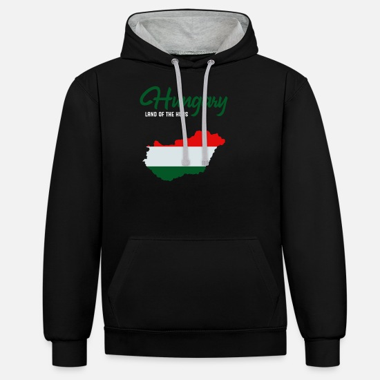 Budapest Hoodies & Sweatshirts - Hungary - Unisex Contrast Hoodie black/heather grey