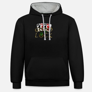 Good Luck Poker - Unisex contrast hoodie