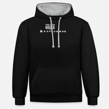 Planet Planet earth solar system funny - Unisex Contrast Hoodie