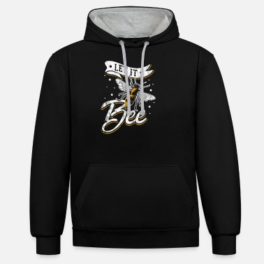 Let It Bee Funny Beekeeping Birthday Gift Idea - Unisex Contrast Hoodie
