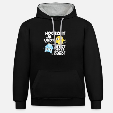 Wedding Reception Wedding JGA wedding reception bride groom gift - Unisex Contrast Hoodie
