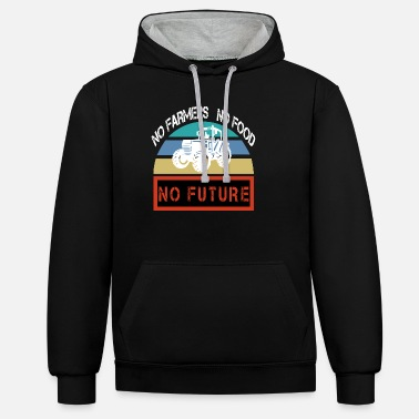 No Farmers No Food No Future - Unisex Hoodie zweifarbig