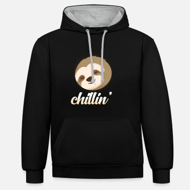 Chill Cute Sloth Chill Out Chill Out lahja - Unisex kontrastihuppari