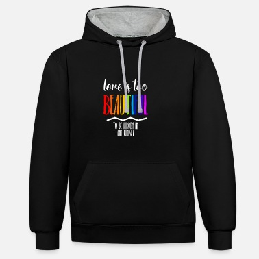Csd Love is beautiful LGBT Gay Pride CSD Regenbogen - Unisex Hoodie zweifarbig