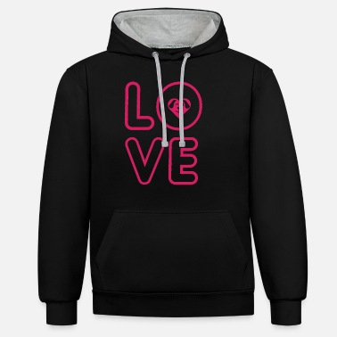Your dog - your true love! - Unisex Contrast Hoodie