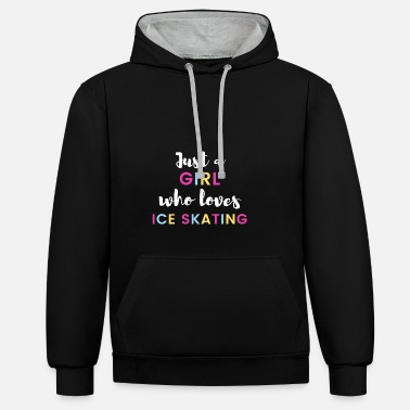 Daughter Just a girl who loves ice-skating - Unisex Contrast Hoodie