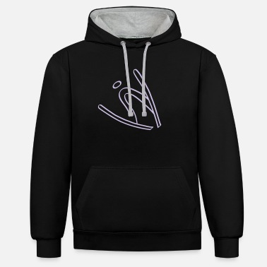 Flight Extreme Ski Jumping - Unisex Contrast Hoodie