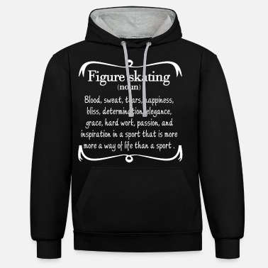 Skating Figure Skating Definition - Unisex Hoodie zweifarbig