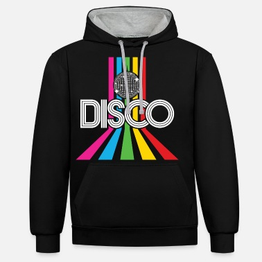 Audiokassette Disco 80's party retro 80's disco ball gave - Unisex kontrast hættetrøje