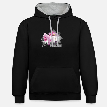 Save the Unicorns - Unisex Hoodie zweifarbig