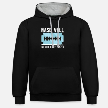 Funny Druffy Sayings Ketamine T-Shirts | Techno parts Druffen gifts - Unisex Contrast Hoodie