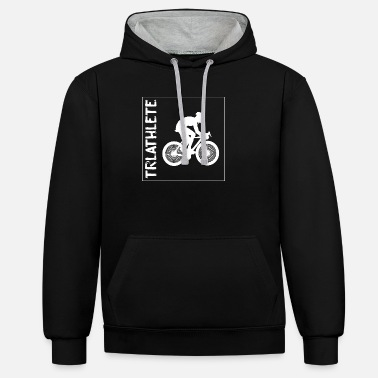 Triathlon swim bike run - Unisex Contrast Hoodie