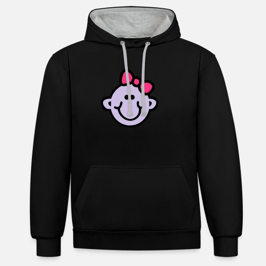 Bambino Hoodies & Sweatshirts - Baby Girl - Unisex Contrast Hoodie black/heather grey