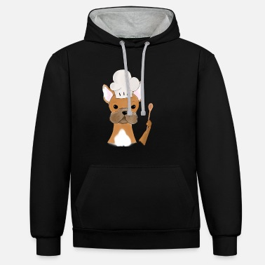 French French Bulldog French Bulldog Frenchie - Unisex Contrast Hoodie