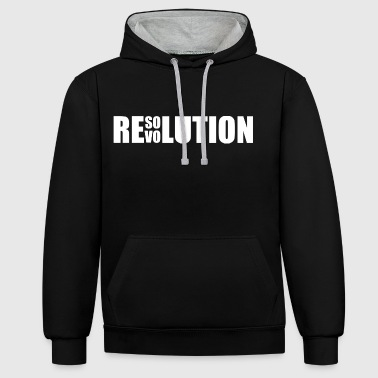 Résolution / Revolution - Sweat-shirt contraste