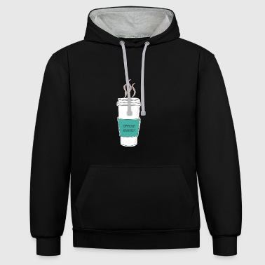 Espresso yourself - Contrast Colour Hoodie