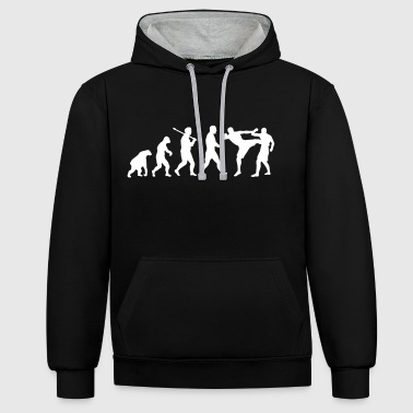 Evolution: Muay Thai/Kick Boxing - Kontrast-Hoodie