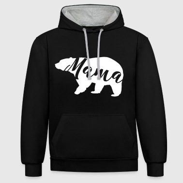 Mummy bear - Contrast Colour Hoodie