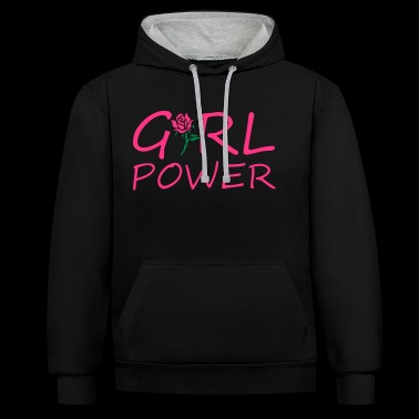 Girl power - Bluza z kapturem z kontrastowymi elementami