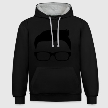 Nerd / Geek / geek / Computer Freak Design - Contrast Colour Hoodie