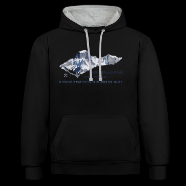 Over all the mountains ... - Contrast Colour Hoodie