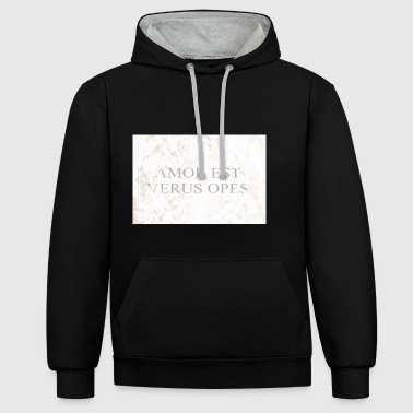 Amor - Contrast Colour Hoodie