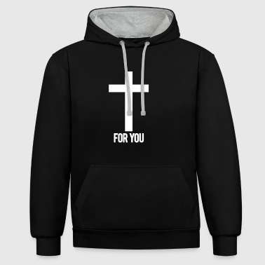 For You - Kontrast-Hoodie