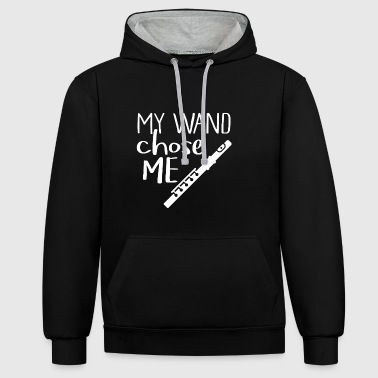 My flute is my wand - Contrast Colour Hoodie