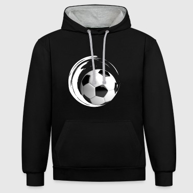 ballon de football balle de porte grand club de football formation - Sweat-shirt contraste