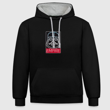 father dark side mask Empire Revolution Star fi - Contrast Colour Hoodie
