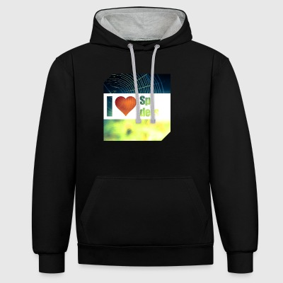 I love spiders - Contrast Colour Hoodie