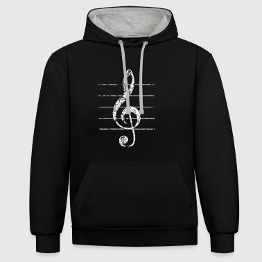 Treble Clef, Clef - Sweat-shirt contraste