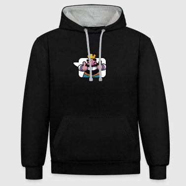 Clash Royale émoticône Roi - Sweat-shirt contraste