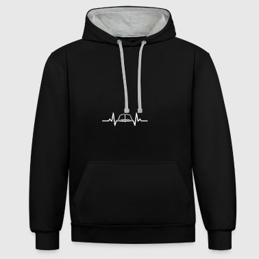 My heart beats for books - Contrast Colour Hoodie