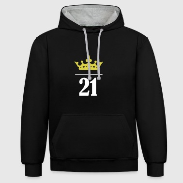 21 year old princess - Contrast Colour Hoodie