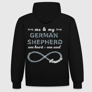 me & my german shepherd doglovers dogs Infinity - Contrast Colour Hoodie