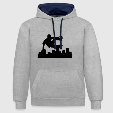 Freerunning, free running, free runner - Contrast Colour Hoodie