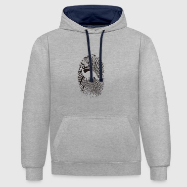 Paw Print paw print - Contrast Colour Hoodie