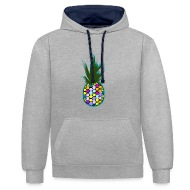 Color Ananas Sweat Shirt Contraste
