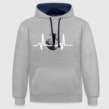 Golf, Golfer and Heartbeat - Sweat-shirt contraste
