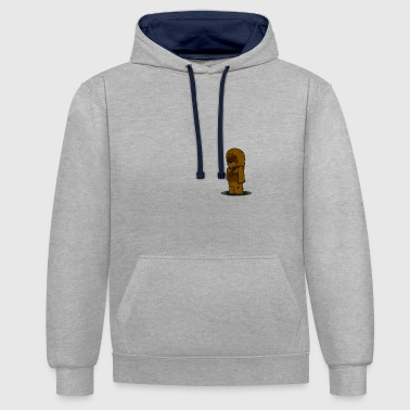 chewbacca since fiction - Contrast Colour Hoodie