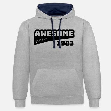 Since Awesome since 1983 / Birthday-Shirt - Contrast Colour Hoodie