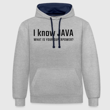 Je sais JAVA - Sweat-shirt contraste