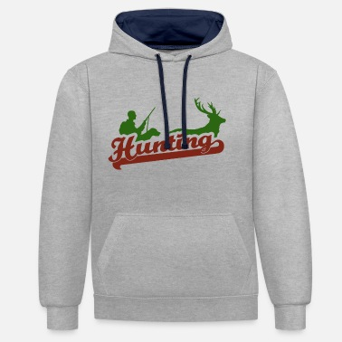 Hunting Dog Hunting with a hunting dog - Contrast Colour Hoodie