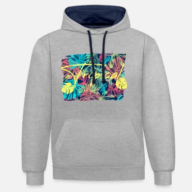 Feuilles tropicales - Sweat-shirt contraste